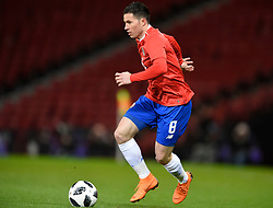 Costa Rica's Bryan Oviedo in action during the international friendly match at Hampden Park, Glasgow. RESTRICTIONS: Use subject to restrictions. Editorial use only. Commercial use only with prior written consent of the Scottish FA.