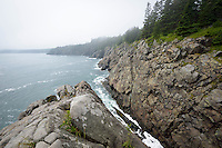 Rugged Maine Atlantic Ocean coastal environment