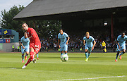 Gary Harkins penalty- Dundee v Manchester City  at Dens Park<br />