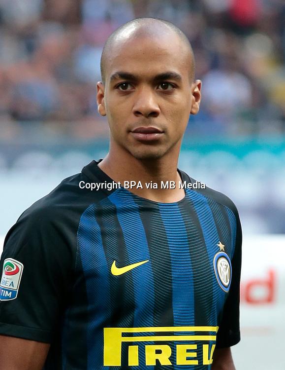 Italian League Serie A -2016-2017 / <br /> ( FC Internazionale ) - <br /> Joao Mario Naval da Costa Eduardo &quot; Joao Mario &quot;