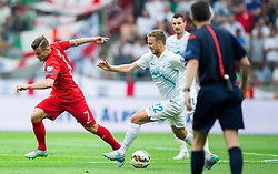 Jack Wilshere of England vs Ales Mertelj of Slovenia during the EURO 2016 Qualifier Group E match between Slovenia and England at SRC Stozice on June 14, 2015 in Ljubljana, Slovenia. Photo by Vid Ponikvar / Sportida