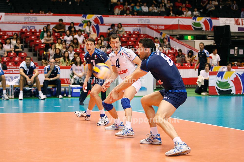 ALBERTO CISOLLA RICEVE.ITALIA - THAILANDIA.TORNEO QUALIFICAZIONE OLIMPICA VOLLEY MASCHILE TOKYO 31 MAGGIO 8 GIUGNO 2008.FOTO GALBIATI - RUBIN