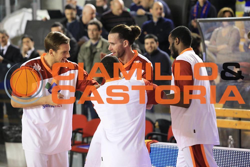 DESCRIZIONE :  Roma Lega A 2012-13 Acea Roma Umana Reyer Venezia<br /> GIOCATORE : team<br /> CATEGORIA : esultanza pre game<br /> SQUADRA : Acea Roma<br /> EVENTO : Campionato Lega A 2012-2013 <br /> GARA : Acea Roma Umana Reyer Venezia<br /> DATA : 16/03/2013<br /> SPORT : Pallacanestro <br /> AUTORE : Agenzia Ciamillo-Castoria/M.Simoni<br /> Galleria : Lega Basket A 2012-2013  <br /> Fotonotizia : Roma Lega A 2012-13 Acea Roma Umana Reyer Venezia<br /> Predefinita :