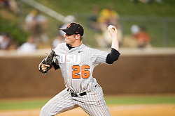 Oregon State Beavers P Joe Paterson (26).  The defending National Champion Oregon State Beavers defeated the Rutgers Scarlet Knights 5-1 in their first game of the NCAA World Series Regional held at Davenport Field in Charlottesville, VA on June 1, 2007.