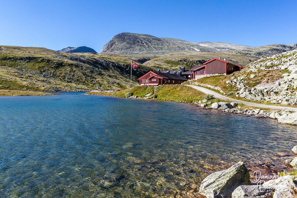 Rondvasssbu tourist hut, turisthytte, Rondane National Park, Norway - August