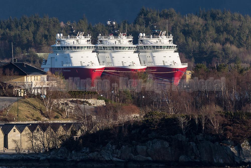 Norwegian Offshore vessels in layup | Farstad Shipping båter i opplag