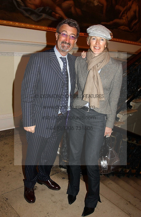 EDDIE & MARIE JORDAN at a reception to celebrate the opening of Turks:A Journey of a Thousand Years, 600-1600 - an exhibition of Turkish art held at the Royal Academy of Arts, Piccadilly, London on 18th February 2005.<br />