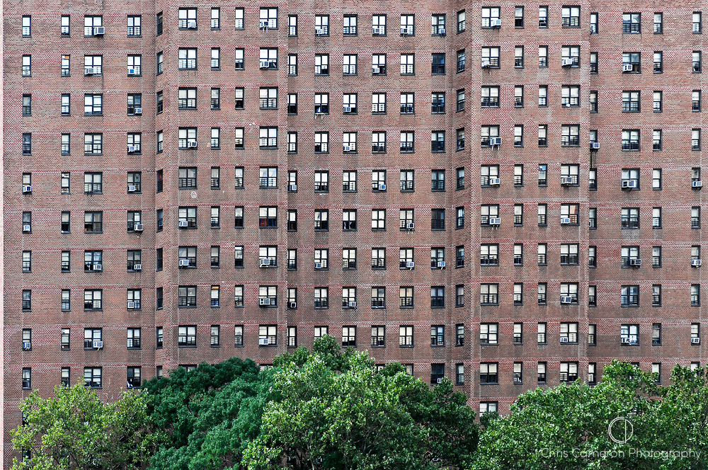 Brick apartment block, New York City.
