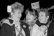 Nurses join other health workers for a NHS Day of Action, York. 03-02-1988.