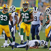during the first half of a preseason NFL football game Thursday, Aug. 31, 2017, in Green Bay, Wis. (AP Photo/Matt Ludtke)
