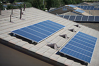 Roof tops with some solar panelling on