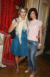 Left to right, sisters PEACHES GELDOF and PIXIE GELDOF at a fashion show featuring the Miss Selfridge Autumn/Winter '05 collections held at The Wallace Collection, Manchester Square, London W1 on 6th April 2005.<br /><br />NON EXCLUSIVE - WORLD RIGHTS