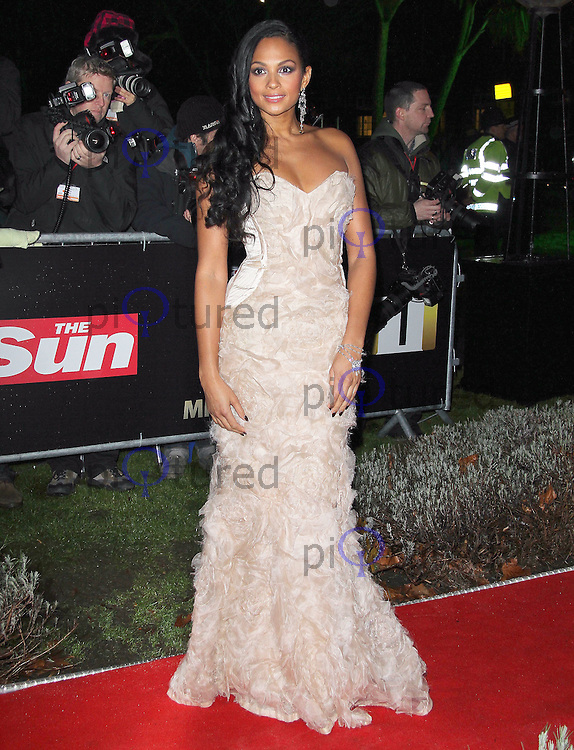 LONDON - DECEMBER 19:   Alesha Dixon attends the The Sun Military Awards 'The Millies' at the Imperial War Museum, London, UK on December 19, 2011. (Photo by Richard Goldschmidt)