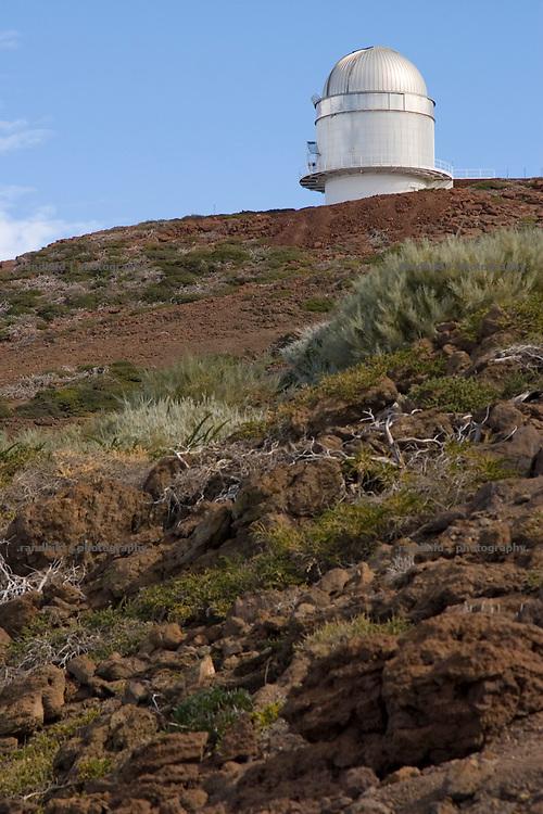 La Palma, Kanarische Inseln, Sternwarte, Astrophysisches Observatorium auf dem Roque de Los Muchachos,