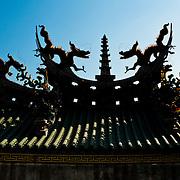 Yanshui's Martial Temple roof ornamentation, Yen Shui Village, Tainan County, Taiwan