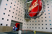 Visitors enter the Coca-Cola corporate museum in the company's Atlanta headquarters.