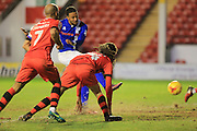 GOAL Joe Thompson scores for Rochdale 0-2 during the EFL Sky Bet League 1 match between Walsall and Rochdale at the Banks's Stadium, Walsall, England on 2 January 2017. Photo by Daniel Youngs.