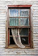 Window and curtain in Minas de Matahambre, Pinar del Rio, Cuba.