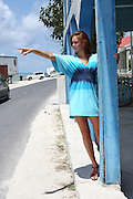 Female European Tourist on the Caribbean island of Grand Turk