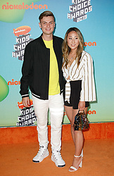 March 23, 2019 - Los Angeles, CA, USA - LOS ANGELES, CA - MARCH 23: carter sharer and lizzy sharer attends Nickelodeon's 2019 Kids' Choice Awards at Galen Center on March 23, 2019 in Los Angeles, California. Photo: CraSH for imageSPACE (Credit Image: © Imagespace via ZUMA Wire)