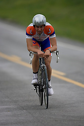 Michael Esbach (UVA) races in Stage 1 of the Tour of Virginia...The Tour of Virginia began with a 4.7 mile individual time trial near Natural Bridge, VA on April 24, 2007. Formerly known as the Tour of Shenandoah, the ToV has gained National Race Calendar (NRC) status for the first time in its five year history.