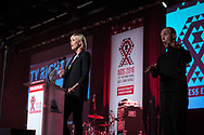 21st International AIDS Conference (AIDS 2016), Durban, South Africa.<br /> Photo shows Charlize Theron, from the Charlize Theron Outreach Project, United States, speaking at the Opening Ceremony.<br /> Photo&copy;International AIDS Society/Steve Forrest/Workers' Photos