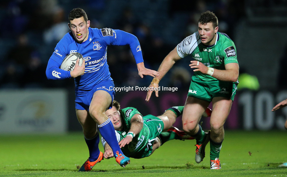 Guinness PRO12, RDS, Dublin 19/12/2014<br /> Leinster vs Connacht<br /> Leinster's Noel Reid with Kieran Marmion and Robbie Henshaw of Connacht<br /> Mandatory Credit &copy;INPHO/Ryan Byrne