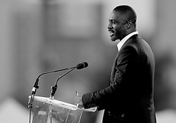 Idris Elba performs a speech at the opening ceremony - Photo mandatory by-line: Joe Meredith/JMP - Mobile: 07966 386802 - 11/09/14 - The Invictus Opening Ceremony - London - Queen Elizabeth Olympic Park