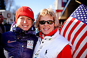 US Olympic Biathelete Haley Johnson poses with her mom before a celebratory parade honoring North Country Winter Olympic Athletes in Saranac lake, NY. (Photo/Todd Bissonette - http://www.rtbphoto.com