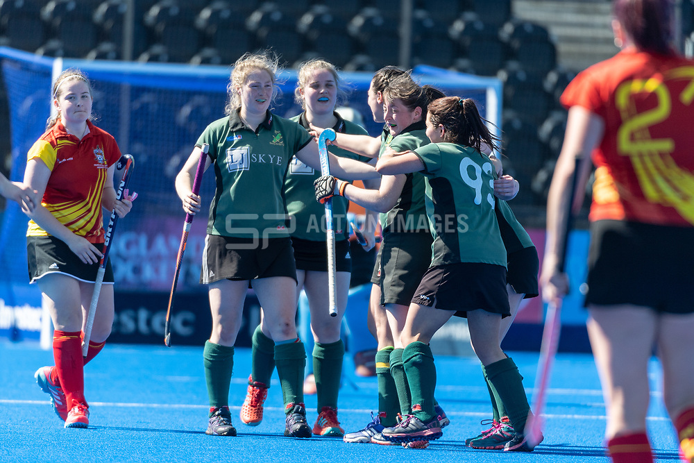 Nuneaton 2nd XI v Ramsey A - Investec Women's T4 Final, Lee Valley Hockey & Tennis Centre, London, UK on 05 May 2018. Photo: Simon Parker