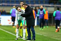Kristian Selnaes Ole (Saint Etienne) et Christophe Galtier ( Entraineur Coach Saint Etienne)