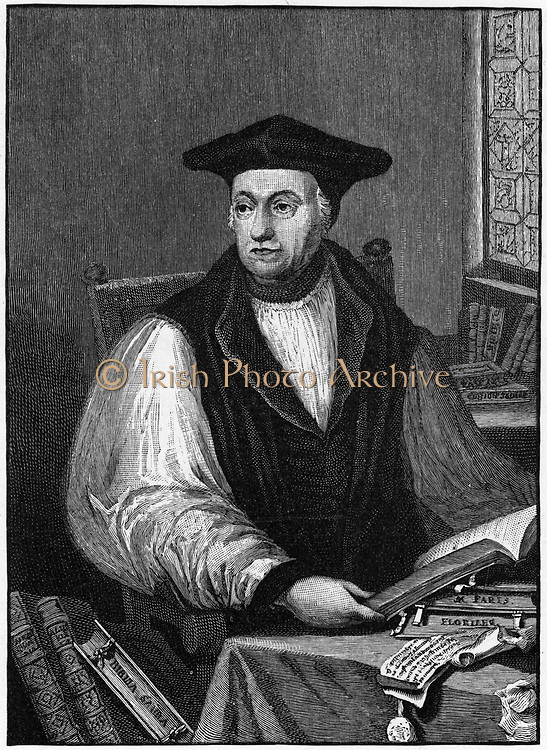 Matthew Parker (1504-1575), English prelate and second Anglican Archbishop of Canterbury from 1559. Engraving.