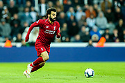 Mohamed Salah (#11) of Liverpool on the ball during the Premier League match between Newcastle United and Liverpool at St. James's Park, Newcastle, England on 4 May 2019.