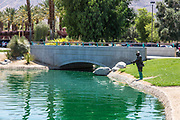 The Fisherman Sculpture at Palm Desert Civic Center Park
