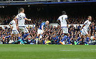 Steven Naismith of Everton scores the second goal against Chelsea during the Barclays Premier League match at Goodison Park, Liverpool.<br /> Picture by Michael Sedgwick/Focus Images Ltd +44 7900 363072<br /> 12/09/2015