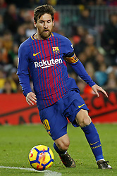 January 7, 2018 - Barcelona, Catalonia, Spain - Leo Messi  during the Spanish league football match FC Barcelona vs Levante UD at the Camp Nou stadium in Barcelona on January 7, 2018. (Credit Image: © Joan Valls/NurPhoto via ZUMA Press)
