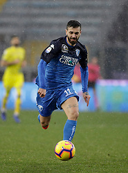03.02.2019, Stadio Carlo Castellani, Empoli, ITA, Serie A, Empoli FC vs Chievo Verona, 22. Runde, im Bild Francesco Caputo in azione // Francesco Caputo in action during the Seria A 22th round match between Empoli FC and Chievo Verona at the Stadio Carlo Castellani in Empoli, Italy on 2019/02/03. EXPA Pictures &copy; 2019, PhotoCredit: EXPA/ laPresse/ Marco Bucco<br /> <br /> *****ATTENTION - for AUT, SUI, CRO, SLO only*****