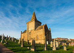 St Monans Parish church in  St Monans on East Neuk of Fife in Scotland, United Kingdom