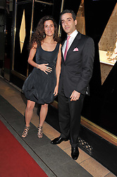 GEORGES KARAM and VALERIE LE CAVELIER at a party to celebrate the opening of luxury jewellers Nourbel & Le Cavelier first boutique in London in Burlington Arcade, London on 14th June 2012.