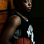 Midland College's Ashley Bey poses for a portait in the school's gym.