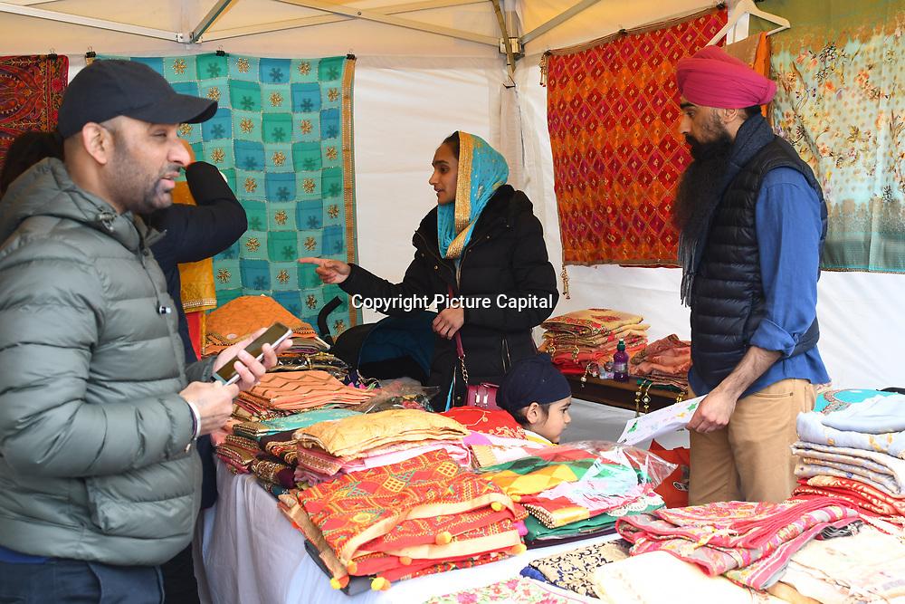 London, England, UK. 27 April 2019. Vaisakhi Festival is a Sikh New Year in Trafalgar Square, London, UK.