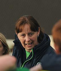 Republic of Ireland U16 Coach Sharon Boyle during the Uefa U16&rsquo;s development tournament at Solar 21 Park, Mayo.<br /> Pic Conor McKeown