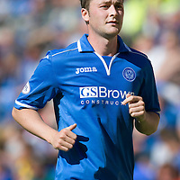 St Johnstone FC Season 2013-14<br /> Tom Scobbie<br /> Picture by Graeme Hart.<br /> Copyright Perthshire Picture Agency<br /> Tel: 01738 623350  Mobile: 07990 594431