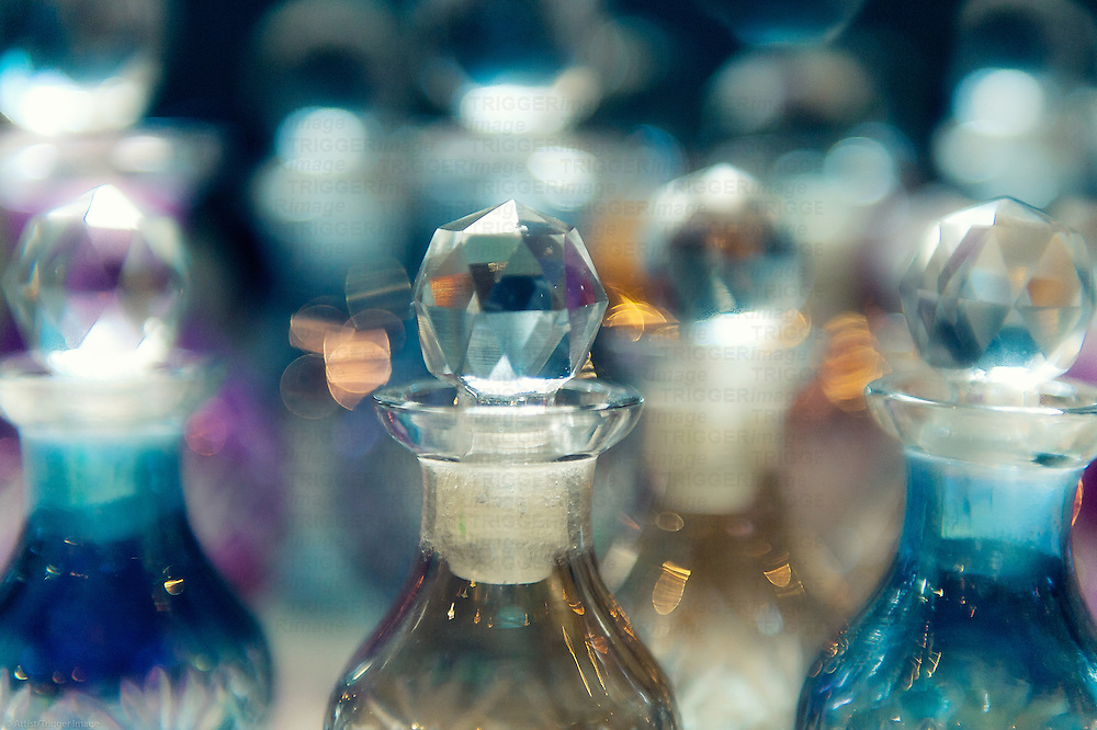 Perfume bottles with soft focus