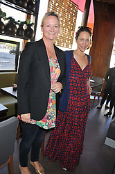 Left to right, LLIANE OGILVY THOMPSON and NINA YOUNG at a lunch at the Brompton Asian Brasserie, 223-225 Brompton Road, London on 2nd May 2013.