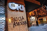 Vandalismo en manifestación por Santiago Maldonado