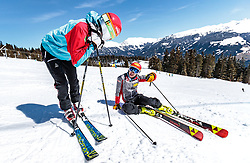 02.04.2018, Skizentrum Hochzillertal, Kaltenbach, AUT, JumpandReach Skitag, im Bild Dominik Terzer, Mario Seidl // during the Skiing Day after the Winterseason with the Austrian JumpandReach Athletes at the Skiresort Hochzillertal, Austria on 2018/04/02. EXPA Pictures © 2018, PhotoCredit: EXPA/ JFK