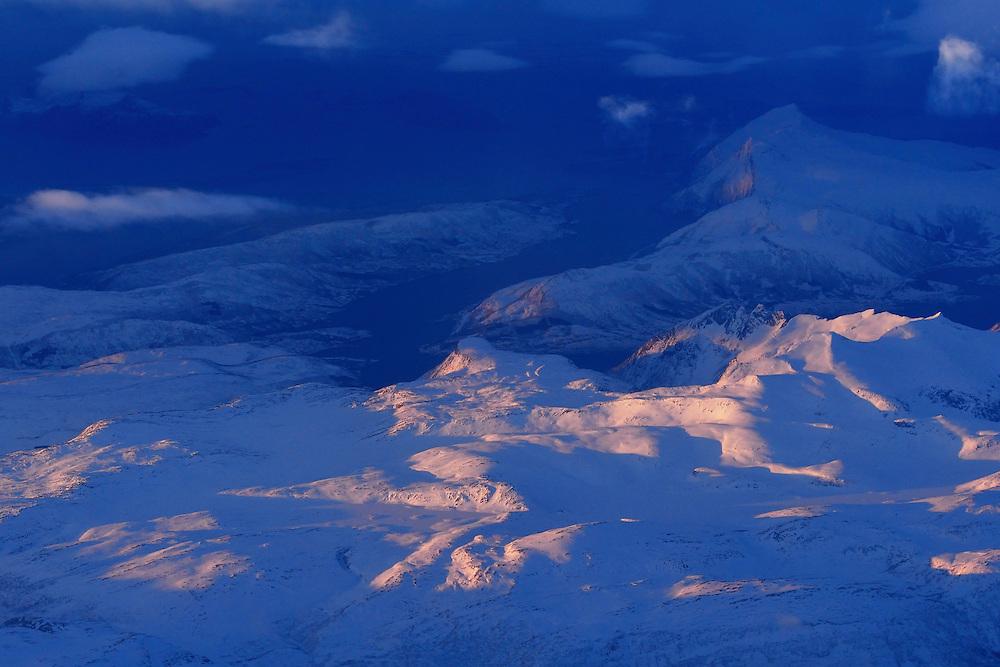 Winter coastline, Nordland county, Norway