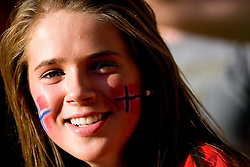 Fan of Norway during the day nine of the 12th IAAF World Athletics Championships at the Olympic Stadium on August 23, 2009 in Berlin, Germany. (Photo by Vid Ponikvar / Sportida)