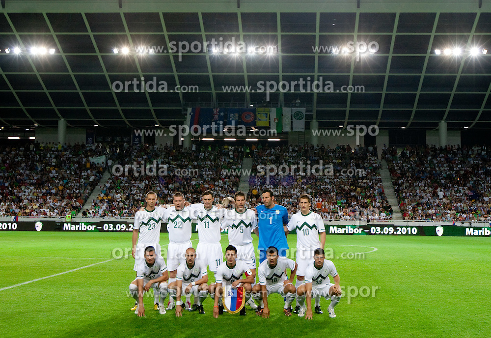 Team of Slovenia during the  opening friendly football match of a new stadium in Stozice between National teams of Slovenia and Australia on August 11, 2010 in Ljubljana. Slovenia defeated Australia 2-0. (Photo by Vid Ponikvar / Sportida)